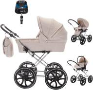 Friedrich Hugo - Natureline Uni - 4 in 1 Kombi Kinderwagen - ISOFIX Set - Farbe: Edward Silver