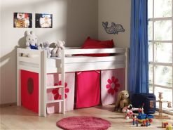 """Spielbett Pino mit Textilset """"Pink Flower"""""""