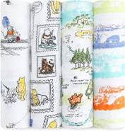 aden+anais 'Winnie the Pooh' 4er-Pack Disney Swaddle Wickeltücher