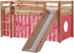 Vipack 'Pferde' Spielbett Pino mit Rutsche und Textilset