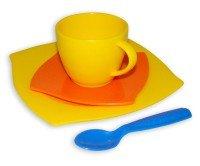 Kaffegedeck 4-teilig im Netz für Kinder