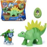 Dino Rescue Action Pack | Set mit Spielfigur und Dinosaurier | Paw Patrol Rocky