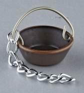 Kupferkessel für Krippen, Hobby- und Modellbau, 8 mm, ohne Kette
