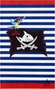 Böing Carpet 'Captn Sharky - Streifen' Kinderteppich blau, 80x150 cm