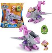 PAW PATROL Dino Rescue Einsatzfahrzeuge | Rev-Up, Dino und Spielfiguren, Figur:Skye