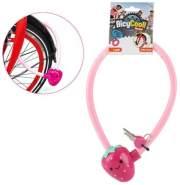 BICYCOOL Kinder Fahrradschloss pink Erdbeere