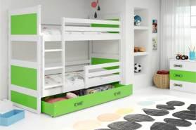 Interbeds 'RICO' Etagenbett weiß/grün 80x190cm
