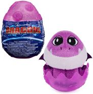 SpinMaster - Auswahl Drachen-Ei | DreamWorks Dragons | Dragon-Egg Plüsch-Figur Bordeaux