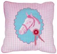 Taftan 'Pferd' Kissenbezug rosa 50 x 50 cm, rosa
