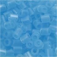 Bügelperlen, Größe 5x5 mm, Lochgröße 2,5 mm, Neonblau 29, Medium, 6000 Stück