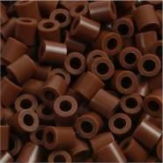 Bügelperlen, Größe 5x5 mm, Lochgröße 2,5 mm, Schokolade 27, Medium, 6000 Stück