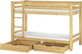 Erst-Holz Etagenbett Kiefer 90x200 cm, natur