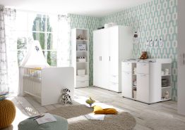 5-tlg. Babyzimmer-Set 'Bibo' 3türig weiß