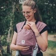 LIMAS Babytrage Halfbuckle | 50 -86 cm | Bauchtrage & Rückentrage & Hüfttrage | ab Geburt bis Kleinkindalter | Baby Carrier | Blush