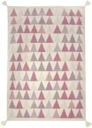 Art for Kids Kinderteppich Dreiecke flieder 140x200