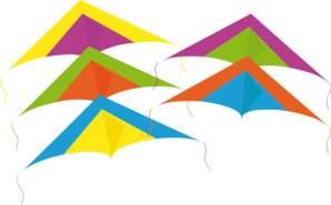 Rhombus Drache Mini Delta - 1x Drachen, zufällige Farbauswahl