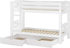 Erst-Holz Etagenbett Kiefer weiß 90x200