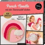 Punch-Needle Starter-Set Glitzer-Regenbogen (100% s. g. )