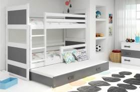 Stylefy Lora mit Extrabett Etagenbett 80x190 cm Weiß Graphit