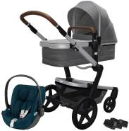 Joolz 'Day+' Kombikinderwagen Radiant Grey inkl. Cybex Cloud Z Plus Babyschale Mountain Blue