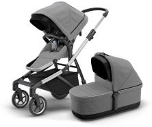 Thule 'Sleek' Kombikinderwagen 2020 Aluminium/Grey Melange