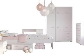 PARISOT 'Galaxy' 5-tlg. Kinderzimmer-Set weiß