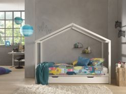 Vipack 'Dallas 3' Hausbett 90 x 200 cm, weiß, inkl. Bettschublade