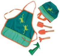 Schürzen-Gartenset Frosch - Kinderschürze, Gartengeräte für Kinder