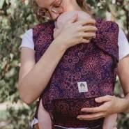 LIMAS Plus Babytrage Halfbuckle | 56 – 104 cm | Bauchtrage & Rückentrage & Hüfttrage | ab Geburt bis Kleinkindalter | Baby Carrier | Mandala Cinnamon