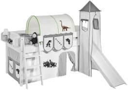 Tunnel 'Dinos Grün' für Hochbett, Spielbett und Etagenbett