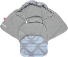 MOTHERHOOD Baby Softshell Einschlagdecke für Babyschale, Autositz, Maxi-Cosi, Römer und andere Marken, ideal für Kinderwagen, Fahrradanhänger, Buggy, Schiffe blau