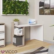 Vicco 'Theo' Schreibtisch, Weiß/Sonoma/Weiß