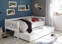 Bega 'Trevi' Kinderbett 90x200 cm, weiß, Kiefer massiv, inkl. Bettliege