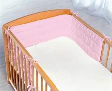 Odenwälder Bettnestchen mit Wellensteppung rosa