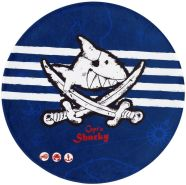 Böing Carpet 'Captn Sharky' Kinderteppich blau Ø100cm