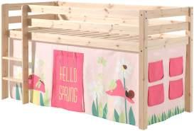"""Spielbett Pino mit Textilset Vorhang """"Spring"""""""