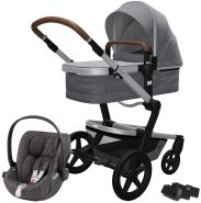 Joolz 'Day+' Kombikinderwagen Gorgeous Grey inkl. Cybex Cloud Z Plus Babyschale Soho Grey