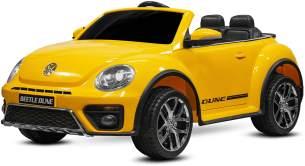 Kidcars Kinder Elektro Auto VW Volkswagen Beetle 2x 25W 12V 4. 5Ah Gelb