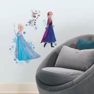 RoomMates - DISNEY Frozen Anna, Elsa & Olaf mit Schneeflocken