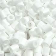 Bügelperlen, Größe 5x5 mm, Lochgröße 2,5 mm, Weiß 15, Medium, 6000 Stück