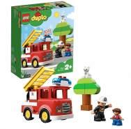 LEGO DUPLO 10901 'Feuerwehrauto', 21 Teile, ab 2 Jahren, mit Licht- und Soundeffekten, inkl. Feuerwehrmann, Kind und Katzenfigur