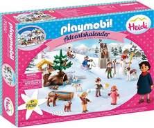 PLAYMOBIL Adventskalender 70260 Heidis Winterwelt mit vielen zauberhaften Figuren, Tierchen und Zubehör-Teilen