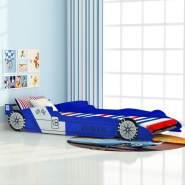 vidaXL Kinder Rennwagen-Bett 90x200 cm Blau