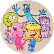 Kinderteppich 'Lovely Kids Funny Monsters' Ø100 cm