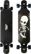 New Sports 'Longboard Skull' ca. 104 x 24 cm, bis 100 kg belastbar, ABEC 9 Kugellager