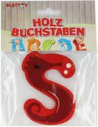 Besttoy Holzbuchstabe 'S' rot