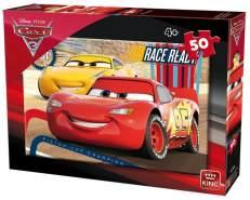 puzzle DisneyAutos 3 rot/gelb 50 Stück