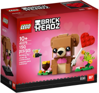 LEGO BrickHeadz 40379 'Valentinstags-Bär', 150 Teile, ab 10 Jahren