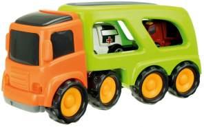 lKW mit 2 Einsatzfahrzeugen 45 cm orange/grün