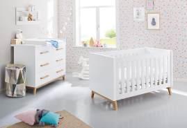 Pinolino 'Riva' 2-tlg. Babyzimmer-Set extrabreit, weiß